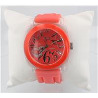 Big Eight Round Red Mens Watch Pinkish Band WW02297N2