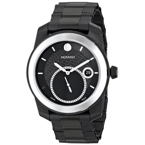 Movado Men's 0606614 Vizio Black Watch with Tungsten Carbide Bezel and  PVD-Coated Bracelet