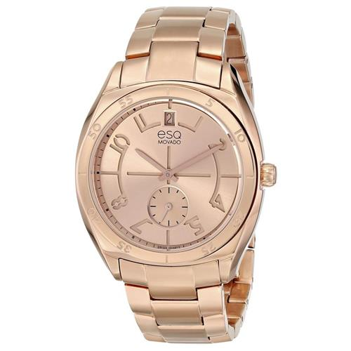 Rose Gold Ion-Pated Stainless Steel ESQ-07101402