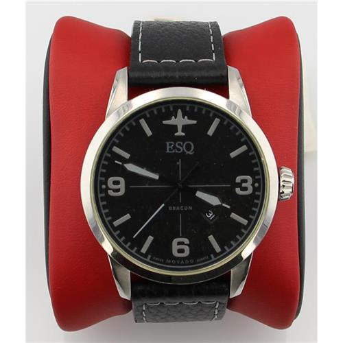 ESQ BLK FACE, LEATHER BAND 07301392