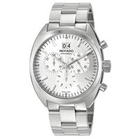 Movado Men's 0606477 Datron Quartz Chronograph Stainless-Steel Silver Dial Watch 0606477