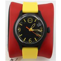Unisex 07301432 ESQ ONE Black Stainless Steel Watch with Yellow Silicone Band 07301432
