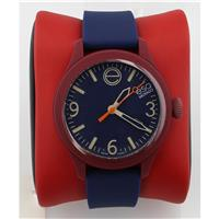 Unisex 07301453 One Silicone-Wrapped Stainless Steel Watch with Blue Band 07301453