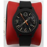 Unisex 07301454 One Analog Display Swiss Quartz Black Watch 07301454